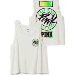PINK ombre muscle tank